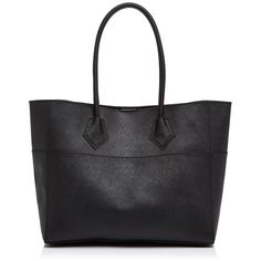 Rebecca Minkoff Tote - Piper ($146) ❤ liked on Polyvore featuring bags, handbags, tote bags, black, shopping tote, handbags totes, saffiano leather tote, rebecca minkoff handbags and shopping tote bags