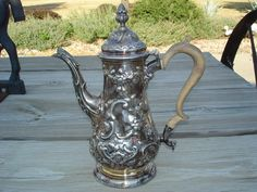 OLD 1843 London Sterling Silver Coffee Pot