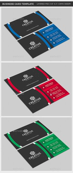 Creative Business Card by Ponda Make your own business cards with this unique template. A professional business card with simplicity and attractive look. Business