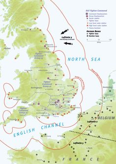 When you think about World War II tech, chances are your mind leaps right to the atomic bomb. But there was another less explosive tech that complete changed the defensive game: Radar. And this map outlines exactly how it saved Great Britain. Map Of Britain, Battle Of Britain, Great Britain, The Blitz, Old Maps, Antique Maps, Historical Maps, British History, European History