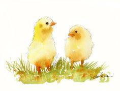 Spring Fling, Original Watercolor Art