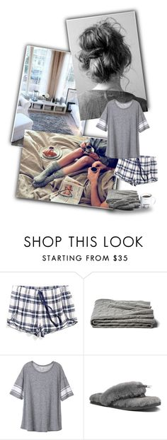"""""""Cozy girl"""" by priscilla12 ❤ liked on Polyvore featuring Tommy Hilfiger, a&R, Victoria's Secret, UGG Australia, Gift Republic, comfy and pajamas"""