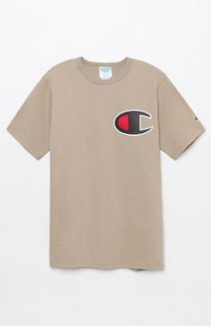 Rep Champion right in this bold, street-style-approved tee. The Big C Applique T-Shirt has a crew neck, short sleeves, and a large Champion C logo patch at the left chest. Baby Boy Outfits, Sport Outfits, Athletic Outfits, Champion Clothing, Good Brands, Champion Logo, Cool Fabric, Pacsun, Cool Shirts