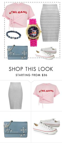 """""""girl gang"""" by evegold ❤ liked on Polyvore featuring Bailey 44, River Island, MICHAEL Michael Kors and Converse"""