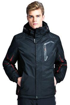 $99.00  WHS Men's Waterproof Mountain Outdoor Jacket Windproof Ski Jacket