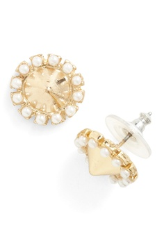 A Few Pointers Earrings - Gold, White, Solid, Pearls, Party, Vintage Inspired