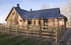 Birdseye Building Co.: Modern Horse Stable - Early Morning