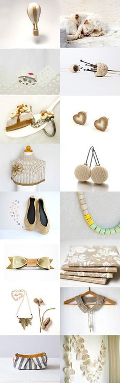 Eco white and beige by Elsa A on Etsy--Pinned with TreasuryPin.com