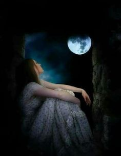 Waiting on you bebé till you come home. Moonlight Photography, Moon Photography, Girl Photography Poses, Beautiful Moon Images, Beautiful Dark Art, Beautiful Pictures, Moon Pictures, Sad Pictures, Lovely Girl Image