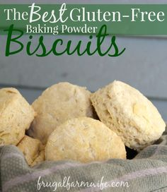 These gluten free baking powder biscuits are the BEST biscuits ever bar none. I use to despair over making good GF biscuits until we found these. A definite must try!