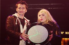 David Tennant and Billie Piper...and that seriously looks like the top to a Borg Regeneration Alcove.