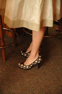 What a fun way to add a little playfulness to your special day.  This was my favorite part of my outfit, my polka dotted shoes!