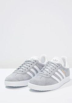 adidas Originals GAZELLE - Sneakers laag - mid grey/white/gold metallic -  Zalando