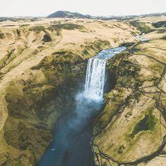 Skogafoss Iceland aerialphotography done dji nature landscape Landschaft wasserfall Photos Of The Week, World Best Photos, Landscape Photography, Travel Photography, Iceland, Behind The Scenes, River, Instagram Posts, Nature