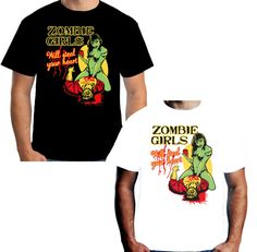 Velocitee Mens T shirt Zombie Girls Steal Your Heart Walking Living Dead Zombies #Velocitee