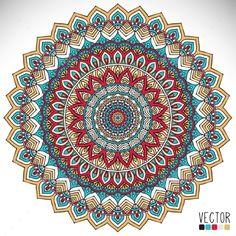 Mandala by ViSnezh Round vector ornament in ethnic style. Mandalas Painting, Mandala Artwork, Mandalas Drawing, Zentangles, Mandala Pattern, Mandala Design, Image Mandala, Motif Vintage, Mandala Art Lesson