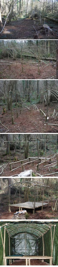 Woodland Shelter Build. | Woodlands.co.uk