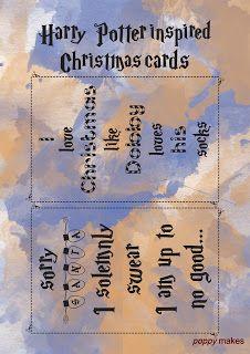 Poppy Makes... 8 Harry Potter inspired Christmas cards. #PoppyMakes #DIY #Craft #Crafting #DoItYourself #FREE #Printable #Template #HappyHolidays #MerryChristmas #FeliceNavidad #Xmas #Christmas #ChristmasCards #HarryPotterChristmasCard #HarryPotterQuote #HarryPotter #HP #Ron #Hermione #Dumbledore #Dobby #Hogwarts #Books #Nerds #Geek #12DaysTillChristmas #LinkInBio #Follow #Like