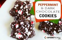 Peppermint-Dark Chocolate Slice and Bake Cookies: Only 55 calories each! | via @SparkPeople #recipe #holiday #baking #christmas