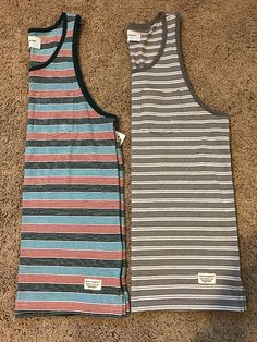 Modern Amusement Striped Tank, Mens Size Small, NEW With The Tags, Lot Of 2 #ModernAmusement #TankTop