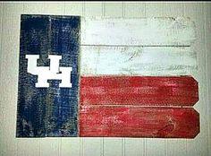 University of Houston Rustic Outdoor Flag by ARepurposedPurpose