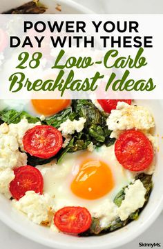 Trying to eat fewer carbs, but have no idea what to eat for breakfast? SkinnyMs has you covered with this list of 28 low-carb breakfast ideas! Low Carb Breakfast Easy, Healthy Breakfast Recipes, Healthy Snacks, Vegetarian Recipes, Healthy Recipes, Breakfast Options, Mexican Recipes, Keto Foods, Clean Eating Snacks