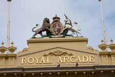 May 2019 - The Royal Arcade is a charming heritage shopping arcade in the heart of Melbourne's CBD. The Royal Arcade was proudly the first arcade in Melbourne and is the longest-standing arcade in Australia. Melbourne Cbd, Melbourne Victoria, Fancy Shop, Old Clocks, Victorian Architecture, Places Of Interest, Online Tickets, Walking Tour, Over The Years