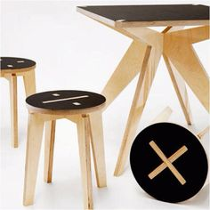Made in Ch-i-taly, Stefano Pugliese. Designed & built between Chile & Italy (of course) this is a gorgeous furniture range of plywood bits & pieces.