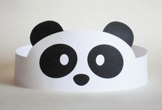 Panda Paper Crown - such a nice idea #kids