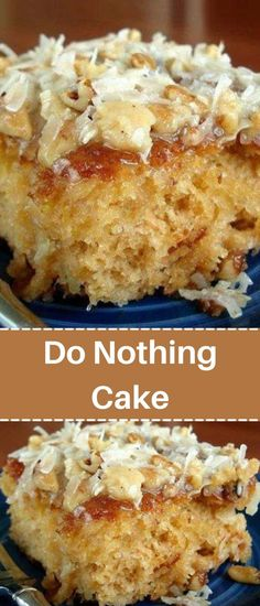 Easy Summer Desserts, Healthy Desserts, Dessert Recipes, Dessert Ideas, Do Nothing Cake, Blondie Dessert, 9 Inch Cake Pan, Pineapple Recipes, Homemade Sweets