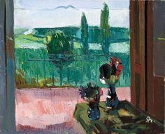 Bernath Aurel - Still Life with Flowers Still Life, Flowers, Painting, Window, Exhibitions, Impressionism, Artists, Balconies, Windows