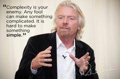 Complexity vs simplicity. Richard Branson