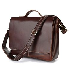 "Handmade Leather Briefcase, Messenger, 14"" 15"" Laptop / 13"" 15"" MacBook Bag in Dark Brown"