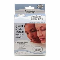 Godefroy Instant Eyebrow Tint Permanent Eyebrow Color Kit Medium Brown by Godefroy *** Click image for more details. (Note:Amazon affiliate link)