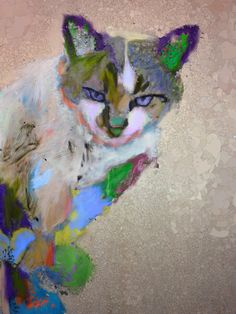 Giclee Canvas Digitally Painted  Pet Portraits 8 by RobinPanzerArt, $149.00