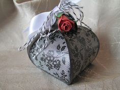 """Curvy Keepsake Box created by Debi Paisie-2014 -OoLaLa uses all Stampin'Up! products including stamp set -""""I Love Lace"""""""