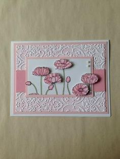 Stampin' Up! Pleasant Poppies shower or birthday card by ivy
