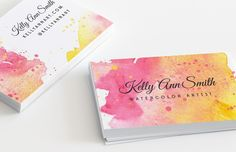 Medialoot - Watercolor Artist Business Card Template