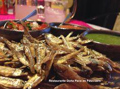 Los charales uno de los platillos típicos de Pátzcuaro que te recomendamos disfrutar en tu próxima visita a Restaurante Doña Paca en Pátzcuaro