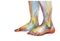 Rainbow feet drawing | Flickr - Photo Sharing!