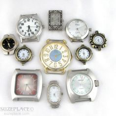 Mixed Lot of Working Watch Cases Waiting for A Watch Band Handmade or Purchased SuzePlace.com