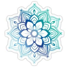 Blue Mandala Stickers