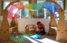 Our Play Space: Natural Beach Living Playroom/School Room | Childhood101