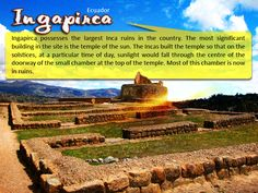 Ingapirca - #Ecuador :  Ingapirca possesses the largest Inca #ruins in the #country. The most significant #building in the #site is the #temple of the #sun. The Incas built the temple so that on the solstices, at a particular time of day, #sunlight would fall through the #centre of the #doorway of the small #chamber at the top.  |   #ingapirca #travel #esperanzatravel #flightstoecuador #cheapflights  |     #ecuadorflights #Offers: http://www.esperanzatravel.co.uk/cheap-flights-to-ecuador.php