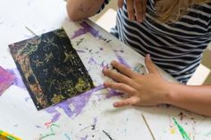DIY Scratch Art with Oil Pastels