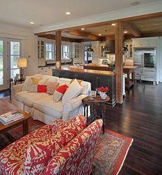 17 Open Concept Kitchen-Living Room Design Ideas (via Bloglovin.com )