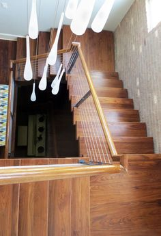 Our cable railing systems give your stairs a distinct modern touch. Expertly installed, they lend a unique beauty to your stairs. Cable Railing Systems, Newel Posts, Modern Staircase, Wood And Metal, Interior And Exterior, Modern Design, Stairs, Minimalist, Contemporary