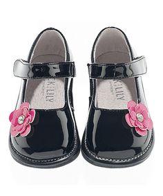 Look at this #zulilyfind! Black & Pink Flower Bella Patent Leather Mary Jane by Jack & Lily #zulilyfinds