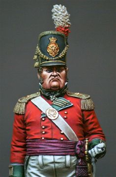 Ufficiale superiore di fanteria inglese: Empire, Waterloo 1815, British Uniforms, 28mm Miniatures, Miniature Figurines, British Colonial, Napoleonic Wars, Figure Model, Reference Images