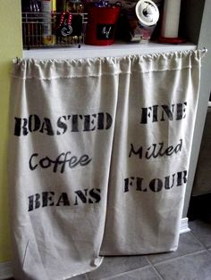 Morning By Productions Pantry Feed Sack Curtains